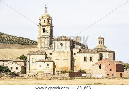 Colegiata de Nuestra Señora del Manzano ancient church - Castrojeriz, Burgos, Spain