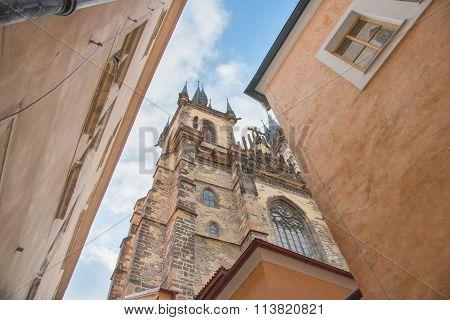 The Tyn Church In Prague - Czech Republic