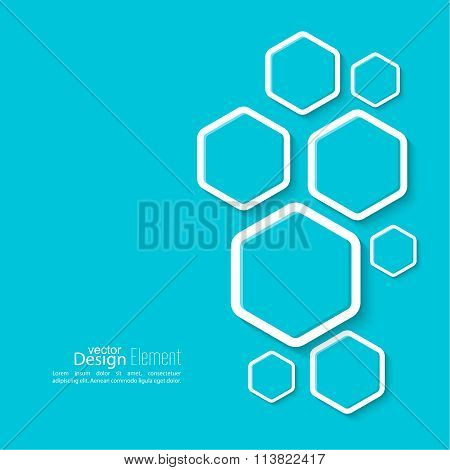 Abstract background with hexagons.