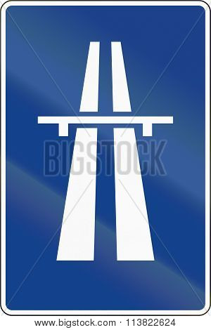 Road Sign Used In Spain - Freeway