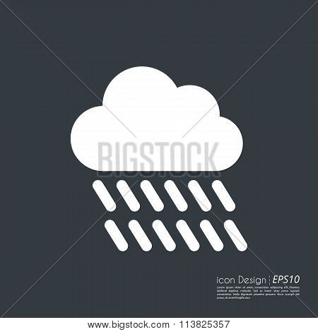 Vector illustration of a cloud icon.