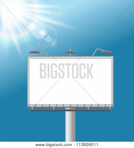 billboard on sky background