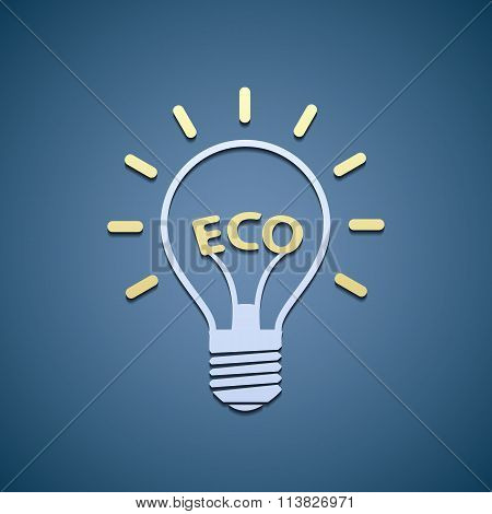 Icon Bulb. Ecological Symbol.