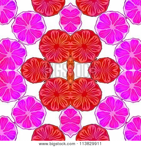 Endless wallpaper with floral pattern in Japanese origami style