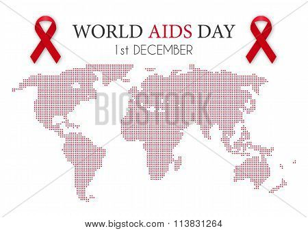 Vector illustration of world aids day