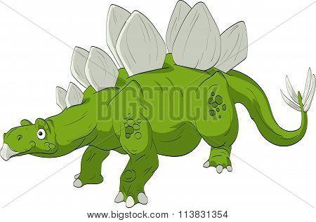 Cartoon Stegosaurus.