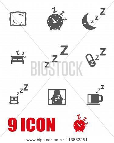 Vector Grey Sleep Icon Set