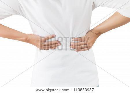 Woman Suffers From Backache