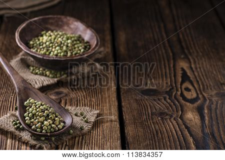 Portion Of Green Peppercorns