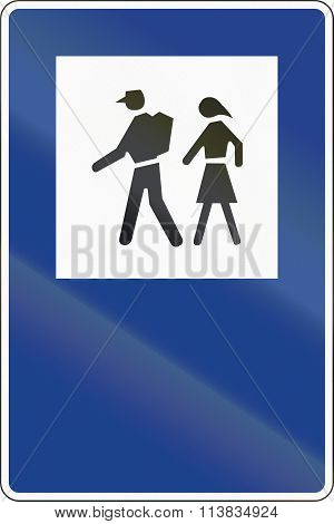 Road Sign Used In Spain - Starting Point For Walking Tours