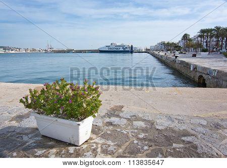 Ibiza Harbor Quay And Boardwalk
