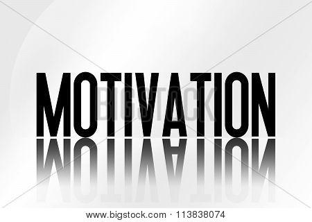 Motivation - Illustration - Mirrored Text Graphic - Modern Business Design