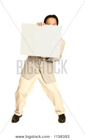 Man Holding White Board 2