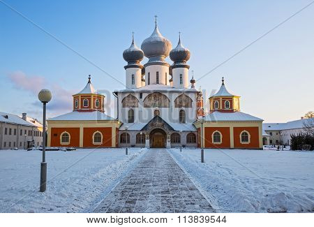 Assumption Cathedral In Tikhvin, Russia