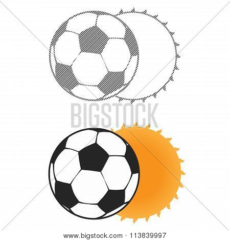 Football sun eclipse