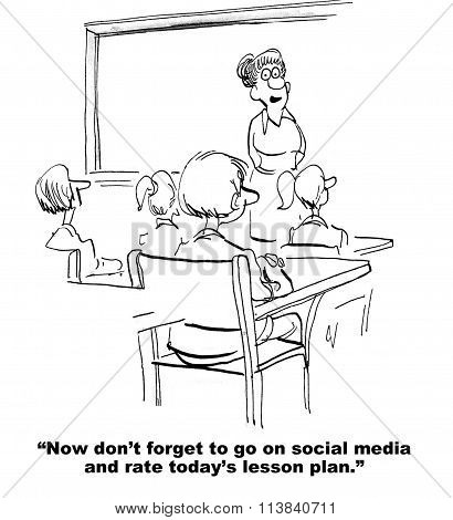 Rate School Class on Social Media