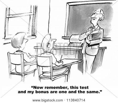 Test Results Impact Teacher's Bonus