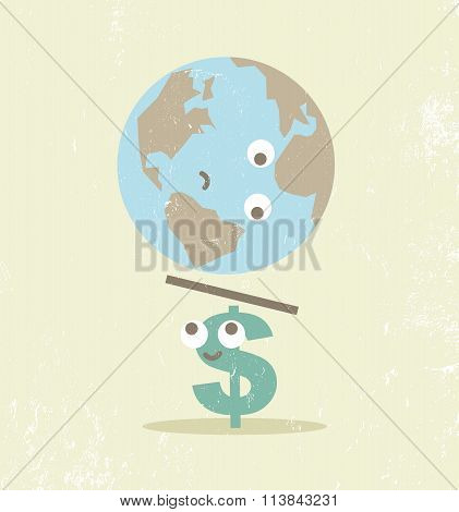 Crisis finance currency dollar balance.