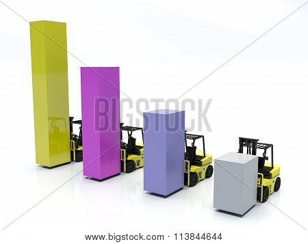 Graphic bar and Forklift trucks