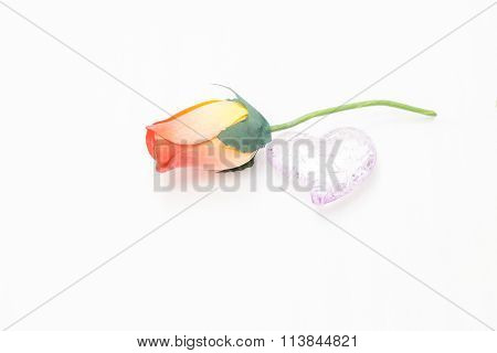 Rose By A Broken To Seek Reconciliation Day Valentine Heart