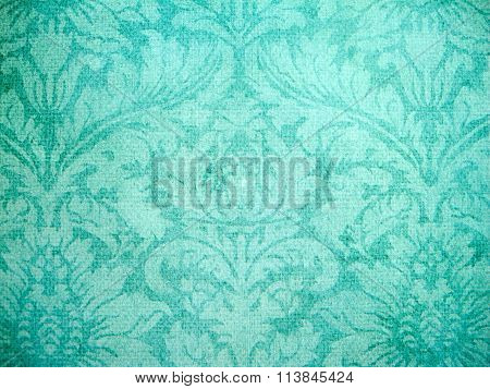 Teal Patterned Wall Covering