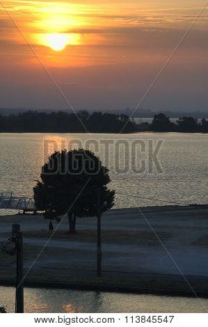 Sunset At Blaye (france)