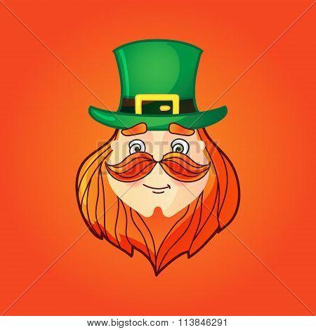 Leprechaun In Top Hat With Mustache