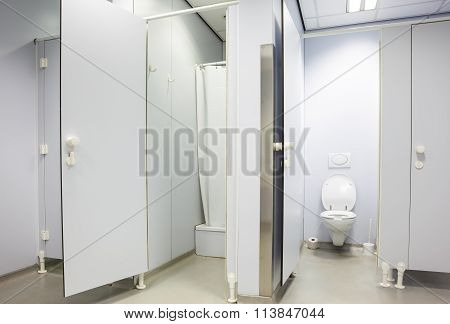 Public Toilet For Men And Shower