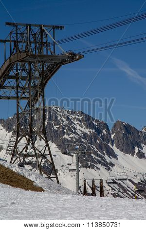 Construction For Ski Cabin With Gondola