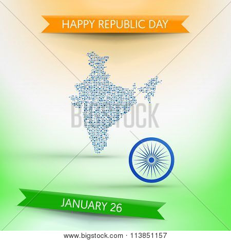 Banner for Republic day in India (January 26)