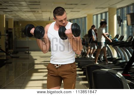 Guy doing sports.