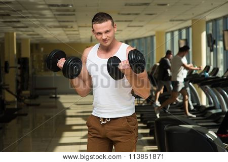 Guy in gym.