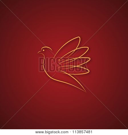 Dove logo over red