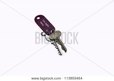 Metal Keys On A Key Holder