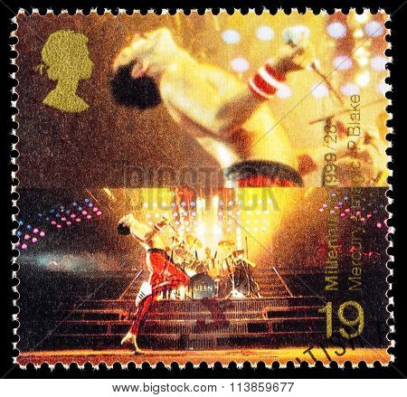 Britain Freddie Mercury Postage Stamp