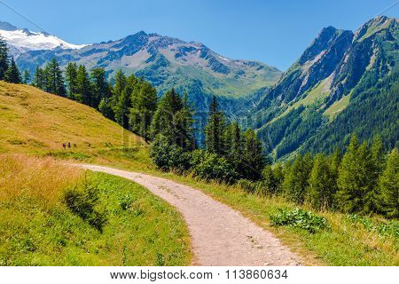 Alpine Trail In Switzerland