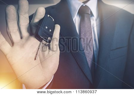 Salesman With Car Keys
