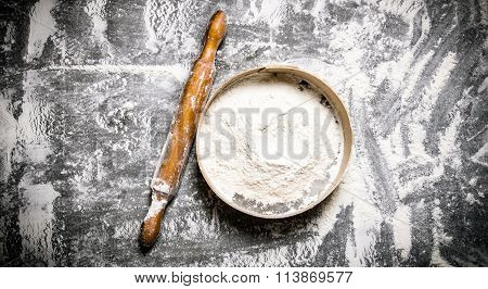 Preparation Of The Dough. Sieve The Flour And With A Rolling Pin.