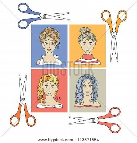 Hairstyles And  Scissors 2