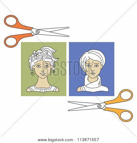 Hairstyles And  Scissors 3