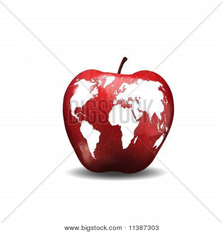 image of the Earth caused by apple