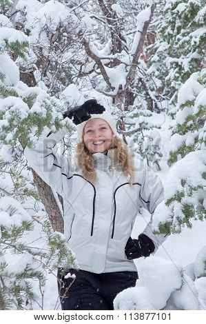 woman and snow
