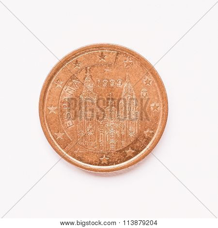Spanish 5 Cent Coin Vintage