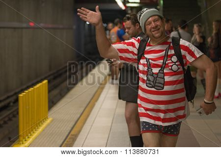 Man Without Pants On The Subway