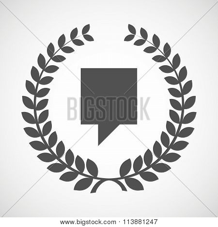 Isolated Laurel Wreath Icon With A Tooltip