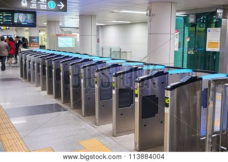 Ticket Gate At Subway Station In Seoul