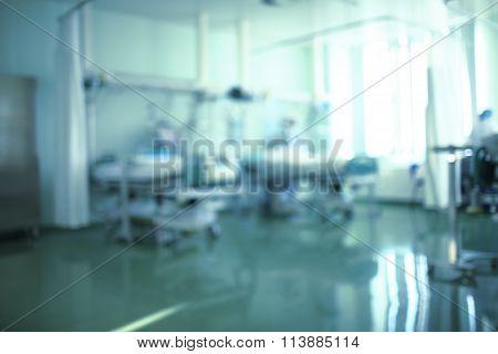 Clean Hospital Ward, Unfocussed Medical Backdrop