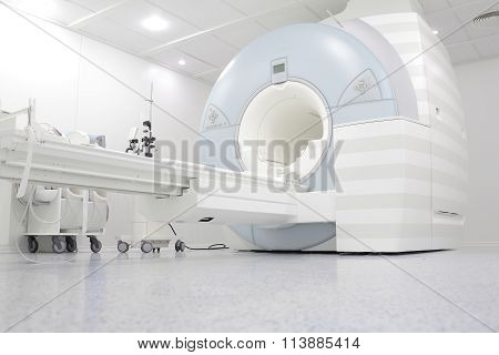 MRI Machine Is Ready To Research In A Hospital