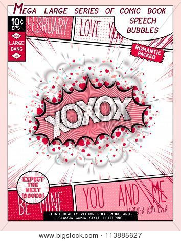Love Series Pop Art Speech Bubble