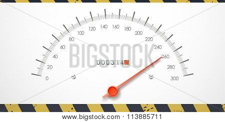 Dangerous Speed Value On The Speedometer